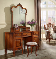one set dress table with chair and mirror bedroom set/antique oak furniture reproduction/import furniture from pakistan