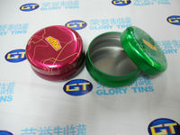 high quality candle case,round candle tin