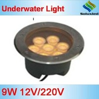 china manufacturer soluxled led outdoor light 9W 12V/220V Stainless Steel pool light waterproof IP68