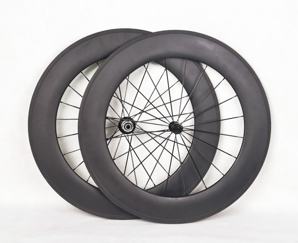 700c carbon fiber road bicycle wheels clincher rim road bike 88mm depth carbon bicycle wheels