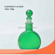 145ml perfume bottle circle shape colored in green or any color you want