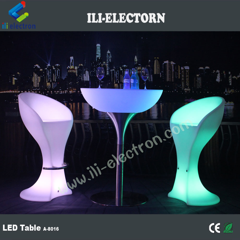 outdoor decoration RGB remote control metal support led illuminated table