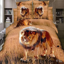 HOT sale new brand Printing 3D Lion quilt covers sale
