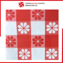 Brick Red Patternprinting Restaurant Plastic Easter Tablecloth