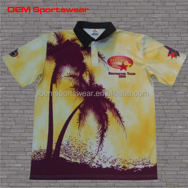 New design hawaiian custom sublimation t shirt small quantities