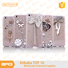 diamond plastic hard case for iphone 6s , pretty & cute cell phone case for iPhone 6