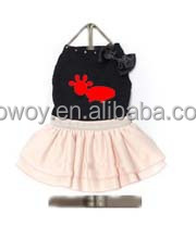 Wholesale Pet Clothing Miss Dog Dress Black Blush Pink Dog Apparel