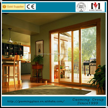 12mm single tempered glass wooden frame door