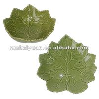 Maple leaf shaped ceramic decorative dinner plate