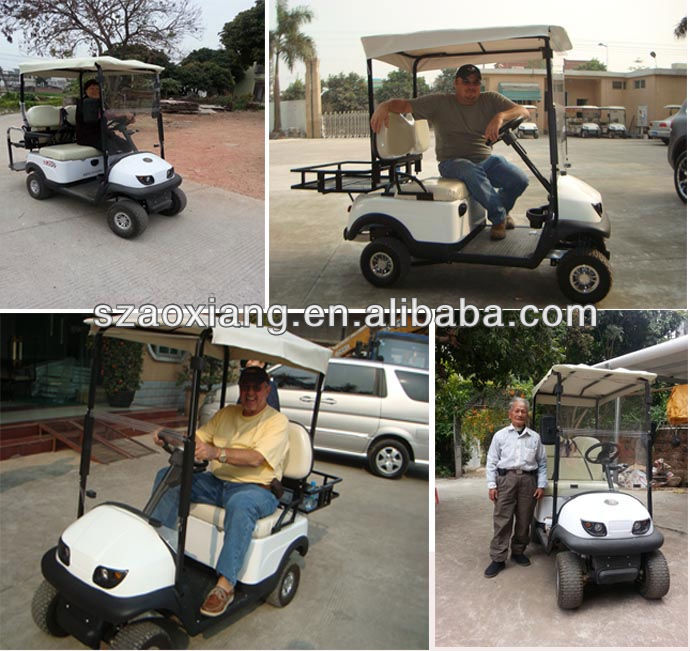 popular Classic Electric Custom golf carts with Aluminum Chassis and 36V battery for Leisure