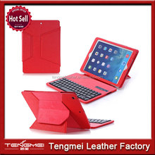 Folding Detachable Folio Bluetooth Keyboard Case For Apple Ipad Air 5th Red