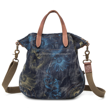 Free AZO Printed Canvas Shoulder Bag Handbag