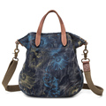 Printed Canvas Shoulder Bags Handbags With Azo Free Dyes For Women Girls