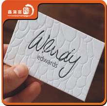 New style customized letterpress business cards