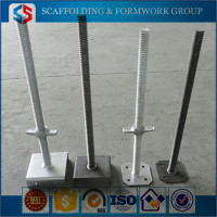 ABJ-0022 Tianjin Shisheng Factory U-Head Solid Jack Base Adjustable Support Scaffolding Galvanized Screw Base Jack
