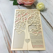 Customized style Laser Cut invitations Card For Wedding