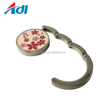 Custom logo metal round bag hanger holder for table wholesale