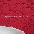 High quality polyester burnout velvet fabric with TC bonding for sofa and home textile