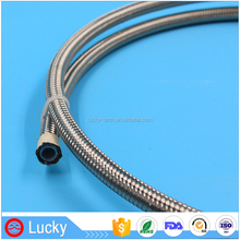 Star product high sensitive high pressure stainless steel PTFE braided Teflon hose 1/8 inch PTFE brake pipe
