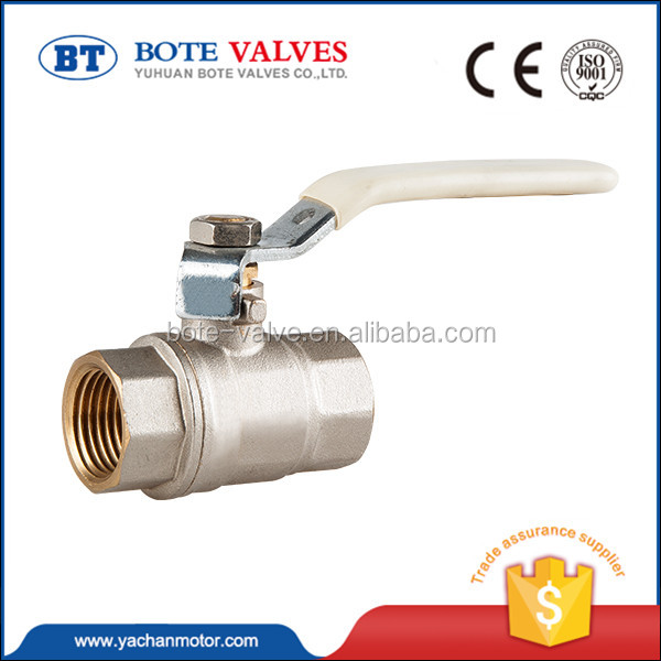 "BT1001 butterfly type ppr brass ball valve for water supply PN30 1/4""-4"" for gas , water"