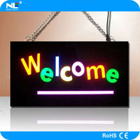 Colorful resin led open signs customized led resin sign high quality LED illuminant resin board neon open sign