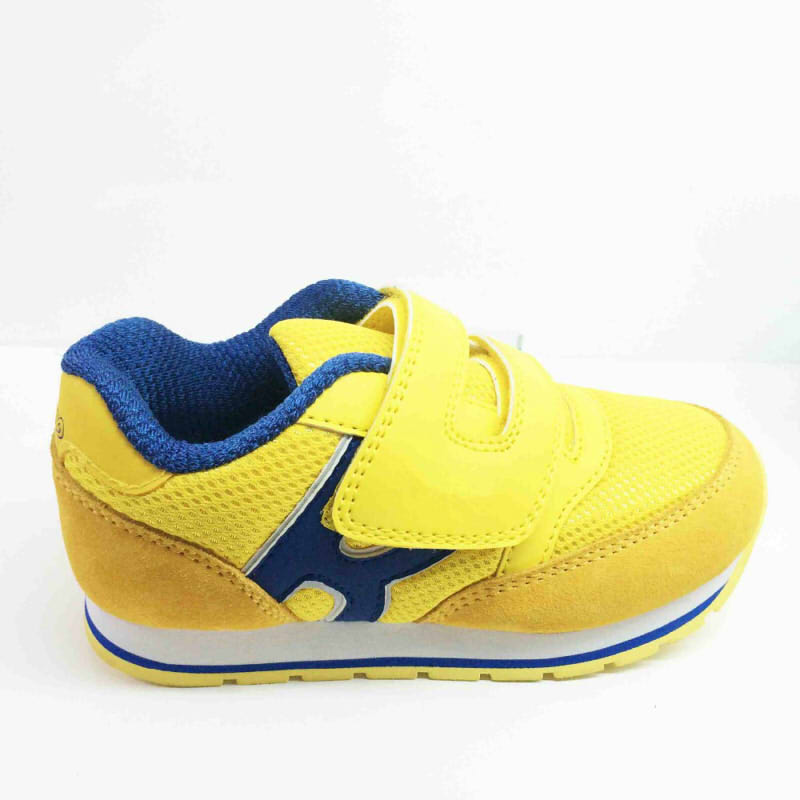 2017Cheapest Kids Sneakers Cute Fashion Yellow Safety Sport Running Shoes