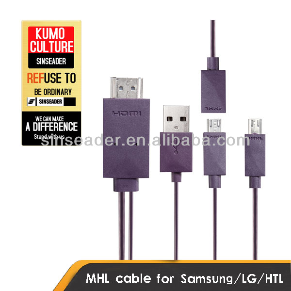 Micro USB to HDMI MHL cable mobile to tv connecter cable