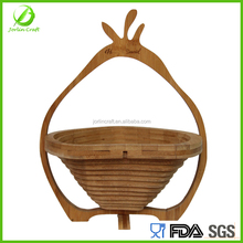 foldable bamboo fruit basket