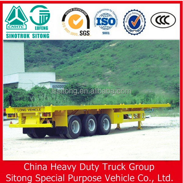 3 BPW Axle container carrier Flatbed Platform Semi Truck Trailers