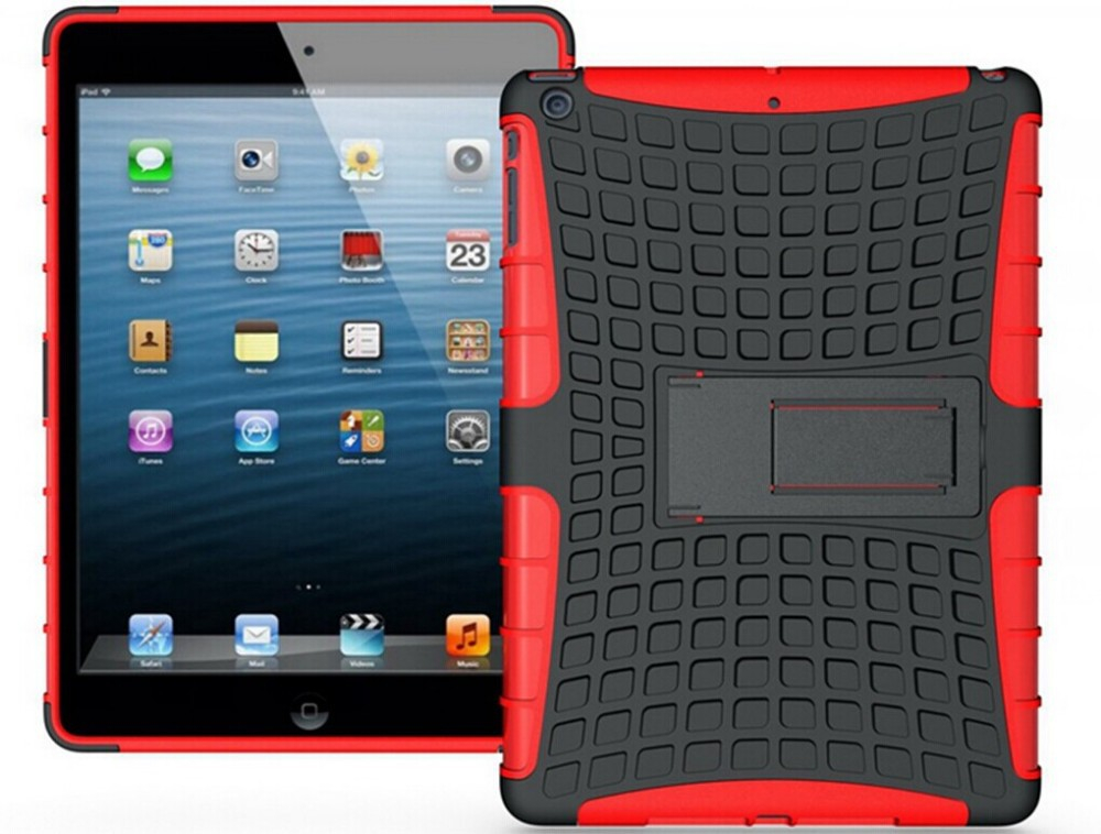 wholesale!! 2in1 Heavy Duty Armor / Robot / Hybrid Case with Stand for ipad air case