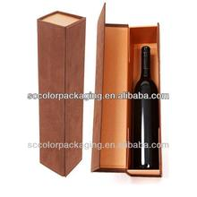 Custom high-grade red wine packaging.Single bottle of red wine packaging
