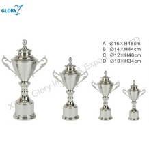 Large Silver Football Sport Trophy Cup for Souvenir