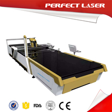 150W Fabric CO2 Clothes Cutting Machine CNC Knife Cutting Table With Auto Feeder