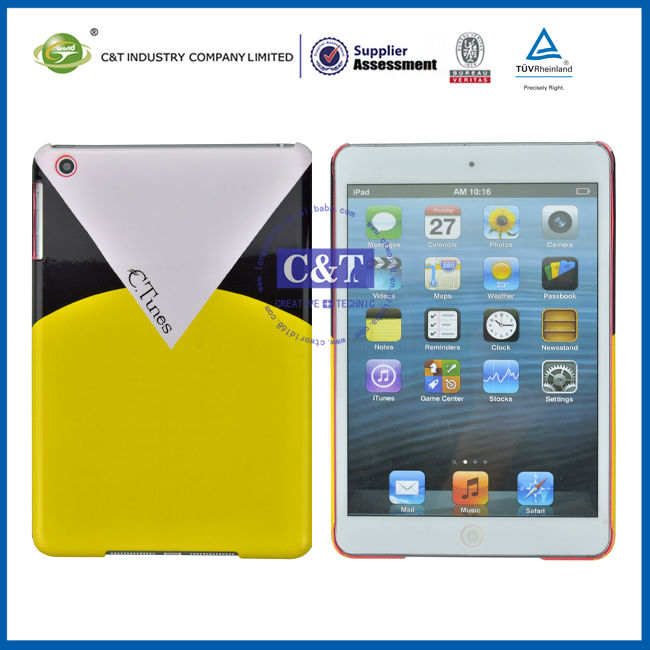 C&T Fashion plastic hard back case for ipad mini smart cover