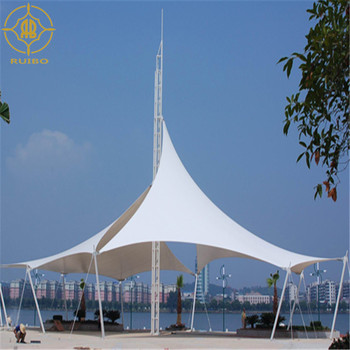 Landscape Tents with PVC cover  tensile fabric membrane sunshade umbrellas