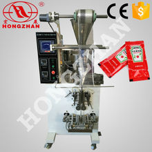 price for hotsale Hongzhan HP-100P for sauce honey ketchup vertical Automatic liquid and paste packing machine
