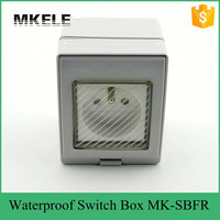 PVC material low price hot sell electrical wall switch box, IP65 waterproof socket from China manufacturer