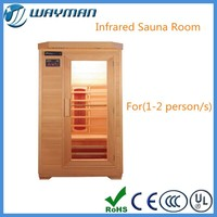 small sauna room with infrared heater