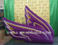 2016 giant inflatable butterfly wing bird wing purple color wing for sale