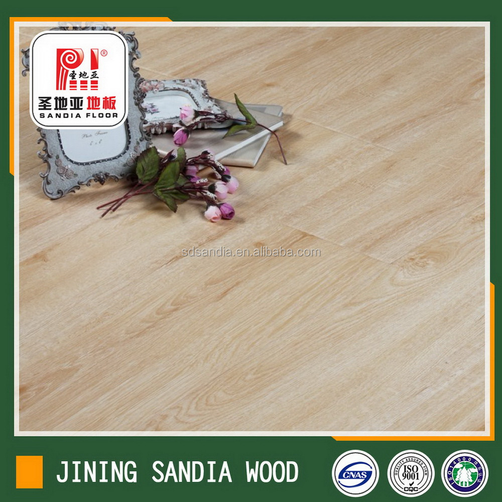 Ac5 Waxed Real Wood Texture Laminate Flooring/ Engineered Wpc Composite Decking,Solid Waterproof Wpc Decking,Wooden Laminated F