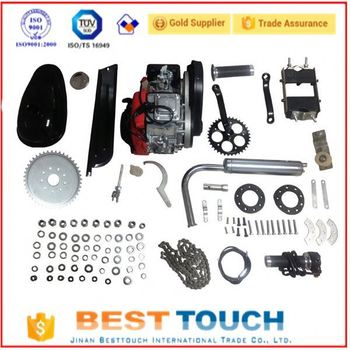 High quality 49cc 4 stroke single cylinder Track bicycle engine parts bicicleta kit de motor for sale