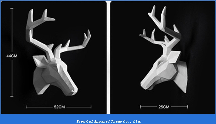 Resin wall hanging 3D artificial animal deer head