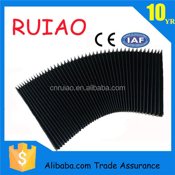RUIAO CNC machincover rubber curtain bellow cover for machine