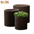 New design modern eco-friendly rattan outdoor flower pots wholesale bonsai pots