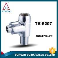high quality forged brass angle valve brass 1 inlet 1 outlet bidet toilet angle valve