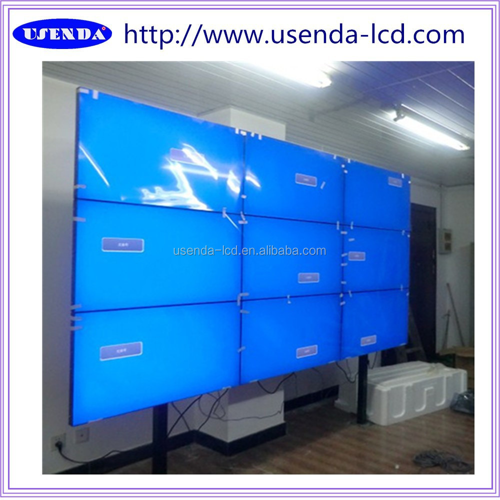 "Good price 46"" 3x3 5.3mm Samsung panel led Video wall price with in-built controller,wall mount rack,hdmi splitter ect."