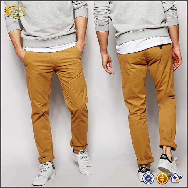 Ecoach Professional OEM Wholesale Tapered leg Slim fit Blend Chinos Twister Men Fashion Cotton pants