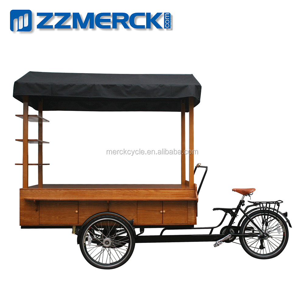 Kongfu Ice Cream Tricycle Classic Vending Trike With Large Storage Box.