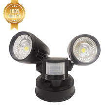 High power cob mini rotating outdoor 10w 20w 30w security led flood light with pir motion sensor