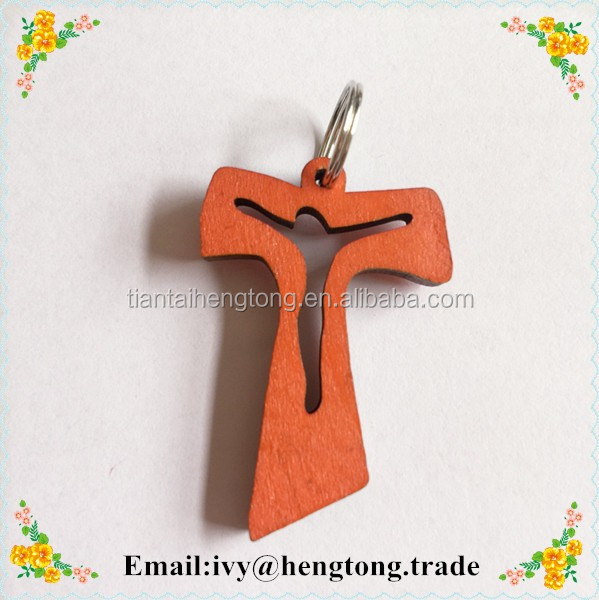 Corlorful wooden cross, necklace accosseries with jesus engraved